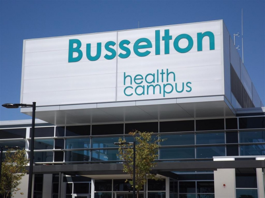 Busselton Health Campus Main Entry Sign